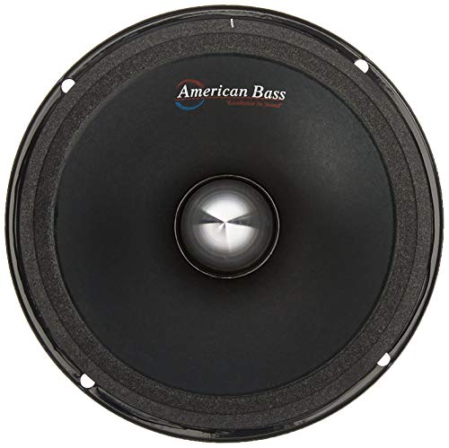 """American Bass Usa neo65 6.5"""" Neo Magnet Powered Mid-Range Speaker Runs 4 ohms at 250W RMS and Maxes Out at 500W Set of 1, 8.5"""" x 4"""" x 8.5"""", Black"""