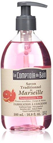 Le Comptoir du Bain Savon de Marseille Liquide Pamplemousse Rose 500 ml - lot de 3