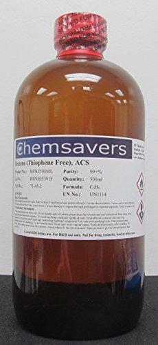 Benzene (Thiophene Free), ACS, 99+%, 500ml (16oz)