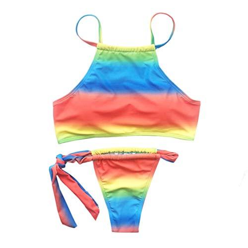 Mifusanahorn Vrouwen Push Up Padded Bra Badpak Ondergoed Strandkleding Regenboog Stijl Badpakken Bikini Set