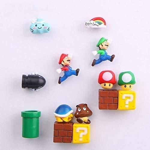 Imán para nevera 3D Super Mario Bros con mensaje de dibujos animados para juegos de dibujos animados 3D para caja de hielo de la marca Icebox, combinación 1