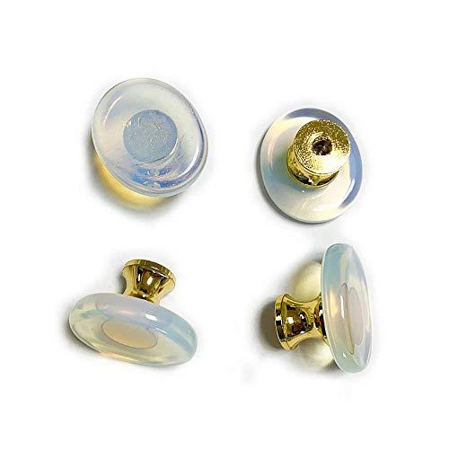 DPJ 4 pomos de piedra natural para muebles de armario, accesorios para decoración del hogar, cajón, puerta perchero con tornillos
