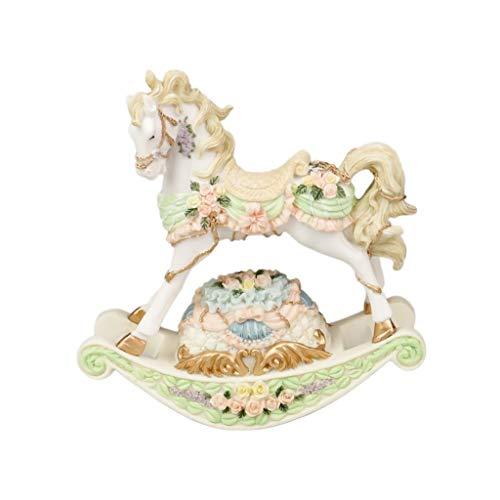 Cajas Musicales Caja de música Cajas de música carrusel, caja de música de resina, cajas musicales de la vendimia, cajas de música de caballo oscilante, Día de San Valentín romántico su regalo regalo