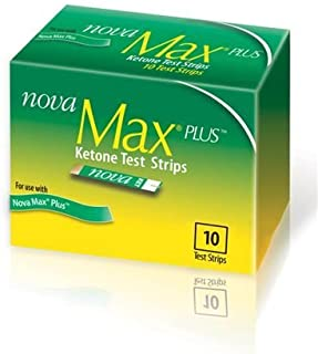 Nova Max Plus Ketone Test Strips 10 Count, (40 Total)