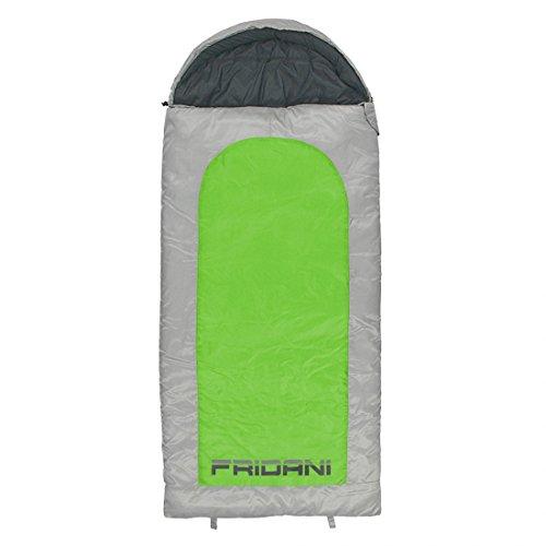 Fridani Kinderschlafsack BG 180x80cm XXL Deckenschlafsack -15°C Grün warm wasserabweisend waschbar