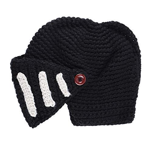 KPPONG Unisex Warm Hut, Mode Römischer Gladiator Ritter Handgestrickte Winter Maske Kappe