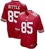 WSSW Men's Rugby Jersey NFL T-Shirt San Francisco 49ers 85# George Kittle Short Sleeve Comfortable Breathable...