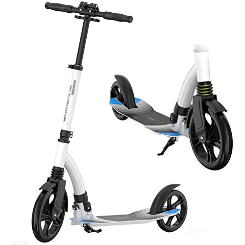 WJJ Patinetes Para Niños Montar portátil al aire libre for adultos kick scooter Vespa-plegable con suspensión delantera y ruedas grandes, Altura ajustable for Vespa del viajero adultos y bebés a parti