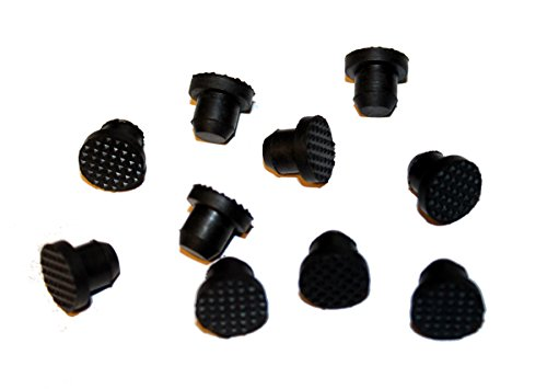 Black Rubber Buttons Piano Cabinet Bumpers 1/2' Diameter Steinway