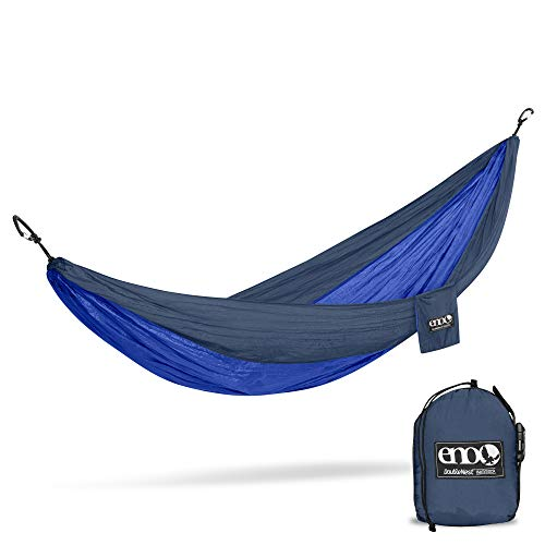 ENO, Eagles Nest Outfitters DoubleNest Lightweight Camping Hammock, 1 to 2 Person, Navy/Royal