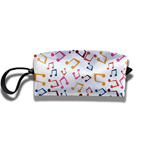 Bbhappiness Pouch Handbag Cosmetics Bag Case Purse Travel & Home Portable Make-up Receive Bag Musical Note