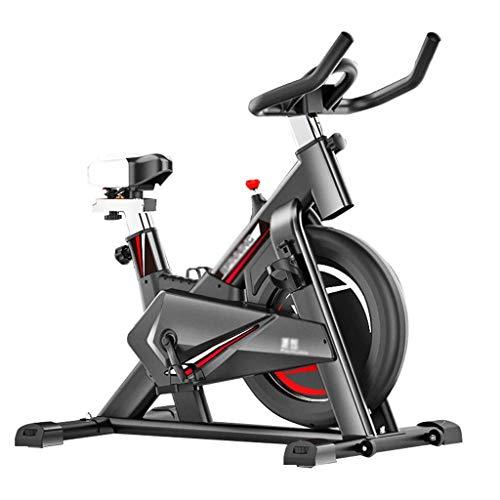 JJSFJH La Bicicleta estática Cubierta de Spin Bici Trainer Bicicleta estacionaria de transmisión del cinturón de Bicicletas cojín de Asiento cómodo for el hogar Cardio Gym