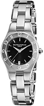 Baume and Mercier Linea Black Dial Ladies Watch + Additional Strap