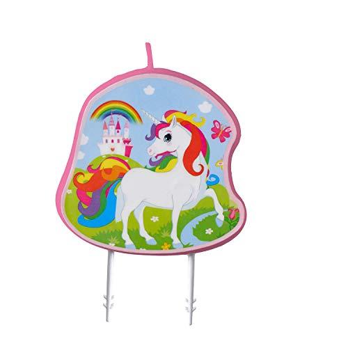 Amscan 9904371 - Vela de cumpleaños, diseño de unicornio, multicolor , color/modelo surtido