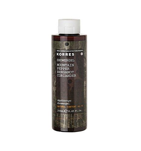 Korres Mountain Pepper / Bergamot / Coriander Parfümiertes Duschgel,1er Pack (1 x 250 ml)