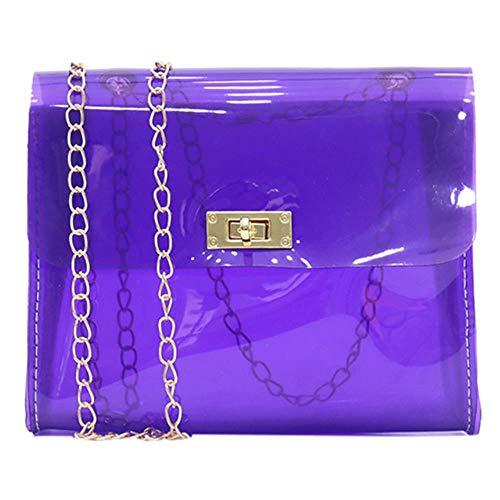 LHXS Waterdichte Handtas Dames Mode Transparante Schoudertas Jelly Messenger Bag Solid