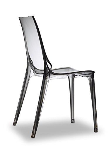 Scab Vanity Designer Kunststoffstuhl grau-transparent