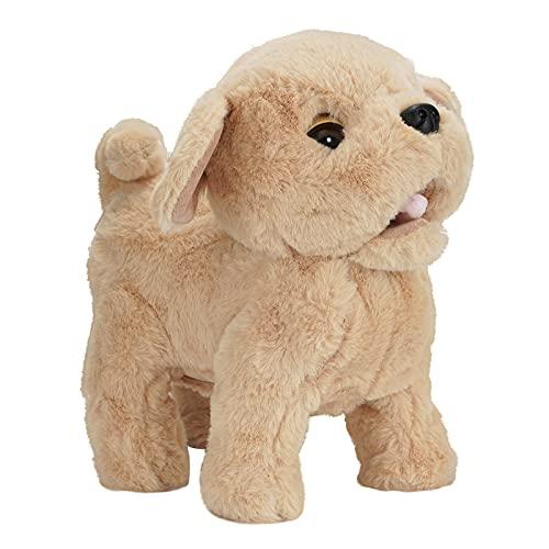 KOVA Hund Spielzeug Kinder Laufender Hund der Läuft und Bellt Spielzeug Hund mit Funktionen Eektronisches Haustier Hund Golden Retriever Kuscheltier Roboter Hund mit Fell