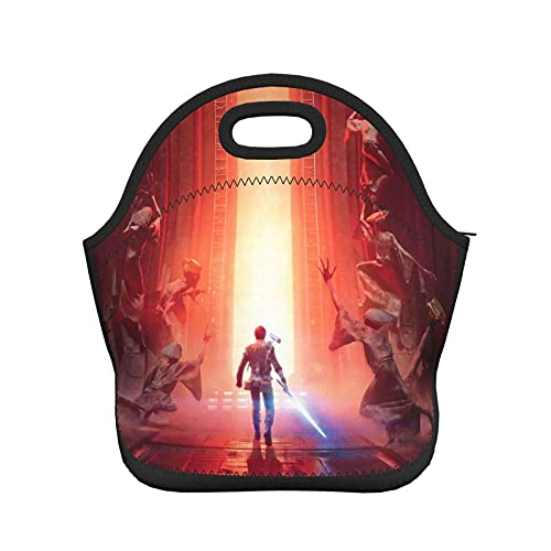 DJNGN S-tar W-ar Lunch Bag Bolsas aisladas Moda para adultos y Bento Tote Box portátil para viajes Picnic Work