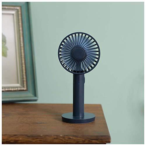 CJW Ventilateur portatif - mini ventilateur portatif 5 fichiers miroir de maquillage 2000mAH (Color : Navy blue)