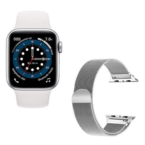 "Smartwatch T500 Plus + Pulseira extra, Tela: 1.54"" HD Bluetooth 5.0 - Branco"