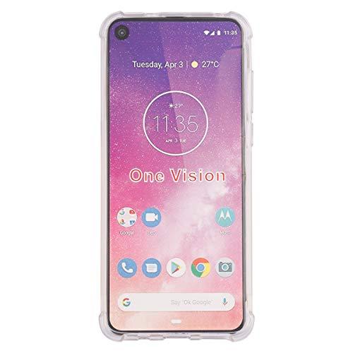 Custodia compatibile con Motorola One Vision, Ttimao, morbida e trasparente, in silicone TPU, con imbottitura in aria, protezione antiurto e antigraffio.