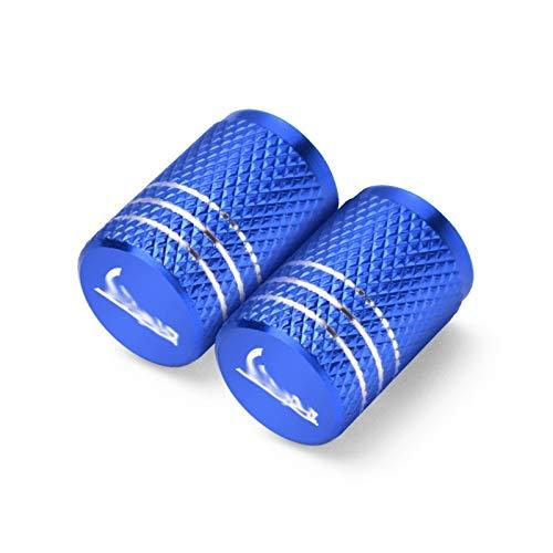 JINBINB / Apto para Piaggio Vespa GTS GTV LX 60 125 250 300 PX 200 Primavera Sprint Motorcycle Rueda DE MOTORIA VÁLVULA DE TIEL TAPOS COPTOS CNC BARTTUCH (Color : 2Pcs Blue)