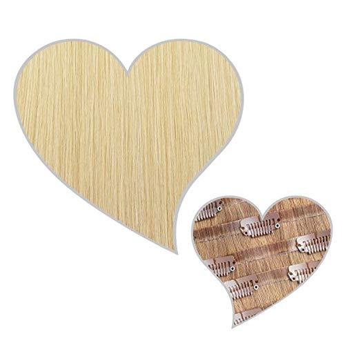 GLOBAL EXTEND® Clip in Extensions nahtlos champagnerblond#22 50cm 190g Volume Seamless Clips aus 100% Echthaar Haarverlängerung nahtlose Haarclips Haarverdichtung Real Human Hair