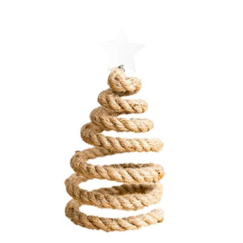 Gepersonaliseerde Tree Toppers Decoratie 6.69In Spiral Tree Ornaments Tree Top decoratieve Party tafel Desktop Ornamenten,Natural