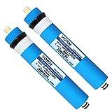 CHJ 2012-125GPD Membrana Ósmosis Inversa, Filtro de Repuesto Universal para Purificador de Agua RO, Adecuado para La Serie de Purificadores de Agua Potable RO Domésticos, 2 Piezas