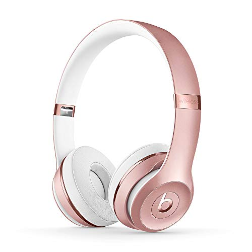 Beats Solo3 Wireless On-Ear Headphones - Apple W1 Headphone Chip, Class 1 Bluetooth, 40 Hours Of Listening Time, Built-in Microphone - Rose Gold (Latest Model)