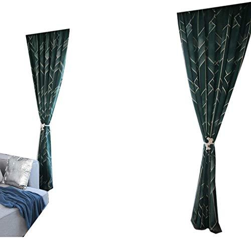 RR & LL gordijnen nis in Scandinavische stijl licht gouden textuur katoen jacquard verduisteringsgordijnen woonkamer slaapkamer vloer tot aan het plafond gordijnen (grootte: breedte 200 hoogte 270 cm (gordijn)) Width 200*height 270cm 9