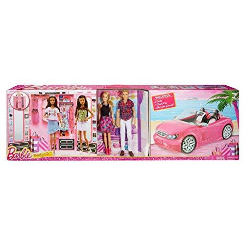 pack mattel barbie +ken+armario+coche CNC16