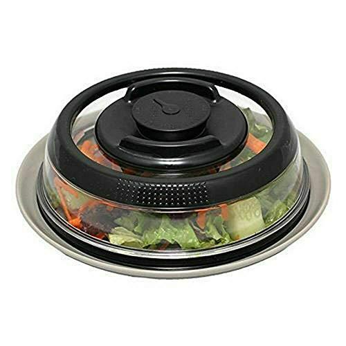 Embalaje universal Cubierta de sellado de alimentos de vacío Cubierta de conservación de alimentos Microondas Horno Presión Presión protector cubierta Utensilios de cocina Transporte ( Color : Black )