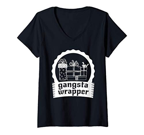 Mujer Gangsta Wrapper - Talentoso empaquetador de regalos Camiseta Cuello V