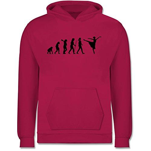 Shirtracer Evolution Kind - Ballett Evolution Arabesque - 98 (1/2 Jahre) - Fuchsia - Mann - JH001K - Kinder Hoodie