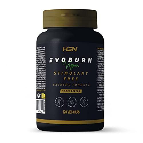 Evoburn Sin Estimulantes de HSN | Suplemento para Mujeres y Hombres | Extractos Herbales para Máxima Efectividad | Vegano, No-GMO, Sin Gluten, Sin Lactosa | 120 Cápsulas Vegetales