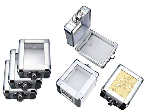 5 cajas de joyas, caja de regalo para joyas, joyero, joyero, joyero, joyero de metal, para mujer y niña, caja de joyas, caja de compromiso, pedida de matrimonio