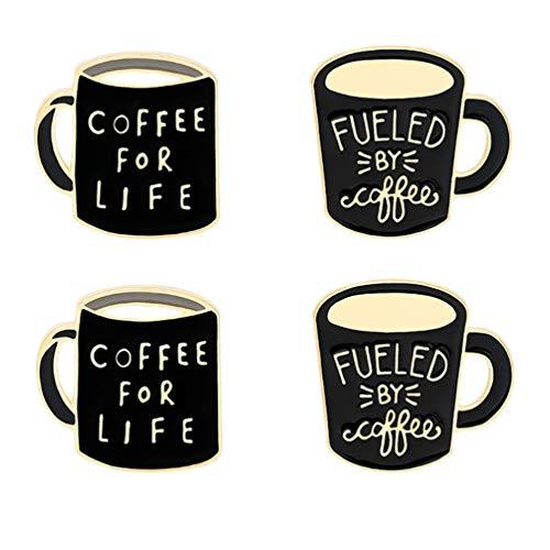 VALICLUD 4Pcs Xícara de Café Moda Emblema Do Emblema Da Liga Pin Mama Roupas Acessórios