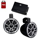 wet sounds - A Pair of Black Recon 6 POD-B 6.5 Inch Tower Speakers & MB Quart NA2-400.2 Amplifier