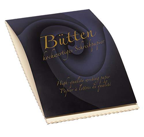 Rössler 20201940 - Bütten - Briefblock A4, 50 Blatt 80 Gramm, ivory