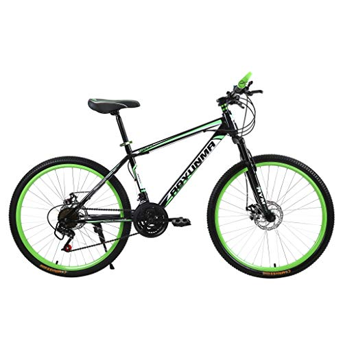 Mountainbikes 26 Zoll Aufhängen MTB Jugendmountainbike Jugendfahrrad Shimano 21 Gang-Schaltung, Gabelfederung, Jungen-Fahrrad Herren-Fahrrad (Grün)