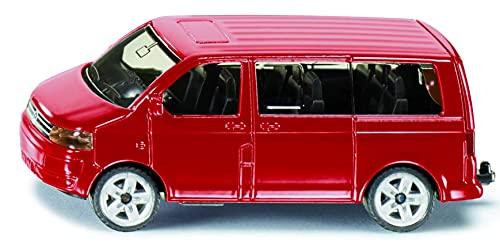 siku 1070, Furgoneta VW Multivan, Metal/Plástico, Rojo, Apertura de portón posterior, Enganche para remolque