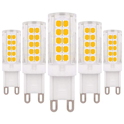 G9 LED-lamp dimbaar 4W vervanging 40W warm wit 3000K G9 halogeenlamp lampen, AC220-240V peer, 5-pack [meerweg ]