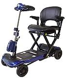 Mobiclinic, Ulises, Scooter plegable minusválido, personas con movilidad reducida, adultos, discapacitados, Eléctrico, Sistema automático con mando, Auton. 15Km, 24V, Azul