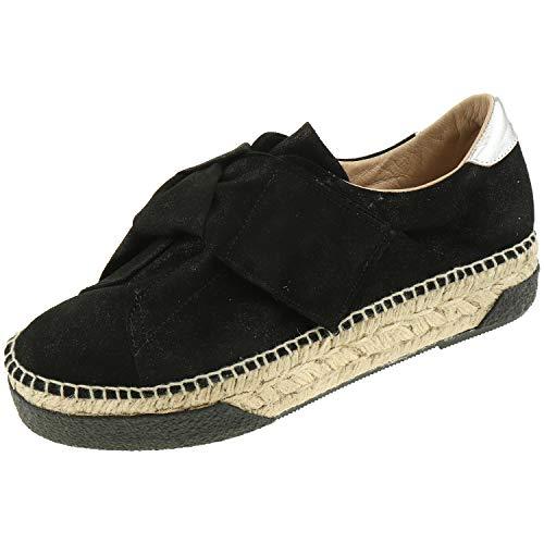 Gaimo damesschoenen Plateau Espadrilles Igor P zwart 20447230451 + schoenpoetshandschoen