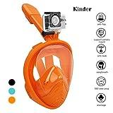 Fenvella Tauchmaske, Faltbare Schnorchelmaske -Vollgesichtsmaske mit Abnehmbare Kamerahalterung und...