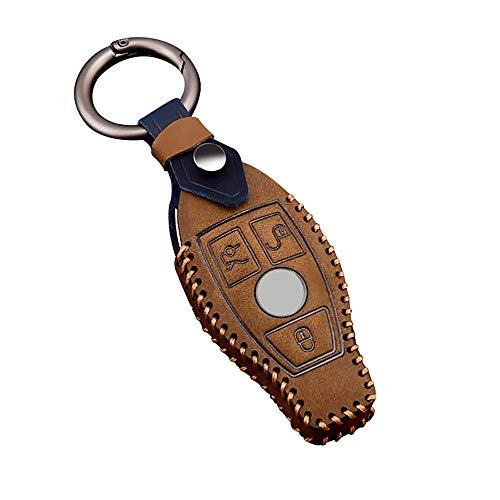 ontto - Funda de piel para llave de coche Mercedes Clase C, Clase E, Clase G, Clase R, Clase S, SL,