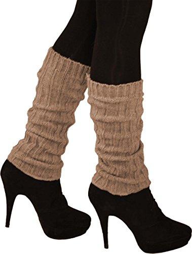 normani Warme Strick Stulpen aus Schafwolle oder Alpakawolle Farbe Alpaka-Beige