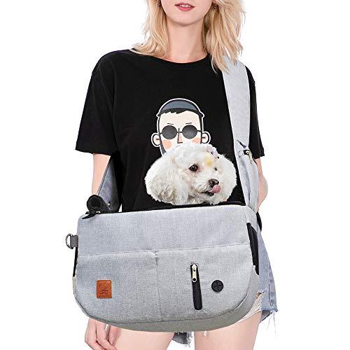 Purrpy Dog Carrier Bag Pet Sling Carrier Cat Travel Bag Hands Free Shoulder Bag Adjustable, with...